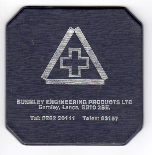 Burnley Engineering Products - Drinks Coaster