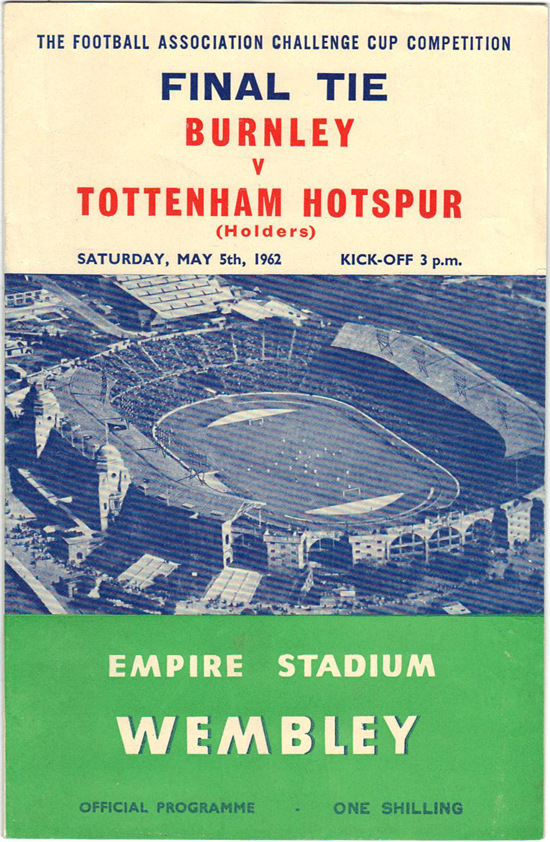 Burnley Programme - 1962 FA Cup Final