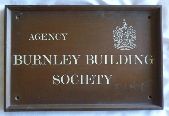 Burnley Building Society - Agency Plaque