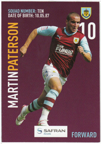 Burnley FC Card - Martin Patterson