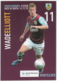 Burnley FC Card - Wade Elliott