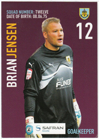 Burnley FC Card - Brian Jensen