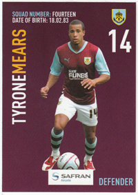 Burnley FC Card - Tyrone Mears