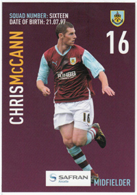 Burnley FC Card - Chris McCann