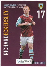 Burnley FC Card - Richard Eckersley