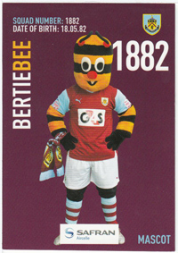 Burnley FC Card - Bertie Bee