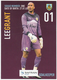 Burnley FC Card - Lee Grant