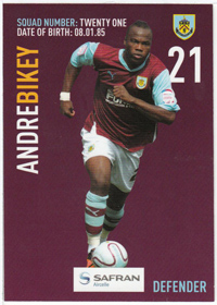 Burnley FC Card - Andre Bikey
