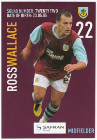 Burnley FC Card - Ross Walace