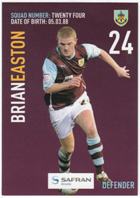Burnley FC Card - Brian Easton
