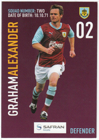 Burnley FC Card - Graham Alexander