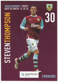 Burnley FC Card - Steven Thompson