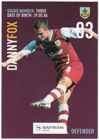 Burnley FC Card - Danny Fox