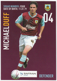 Burnley FC Card - Michael Duff
