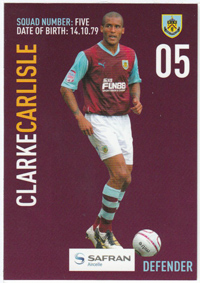 Burnley FC Card - Clark Carlisle