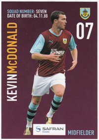 Burnley FC Card - Kevin McDonald