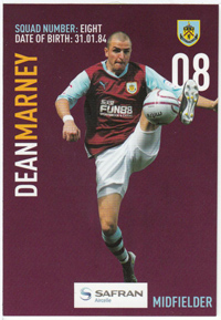 Burnley FC Card - Dean Marney