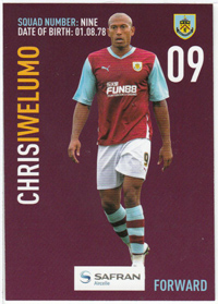 Burnley FC Card - Chris Iwelumo